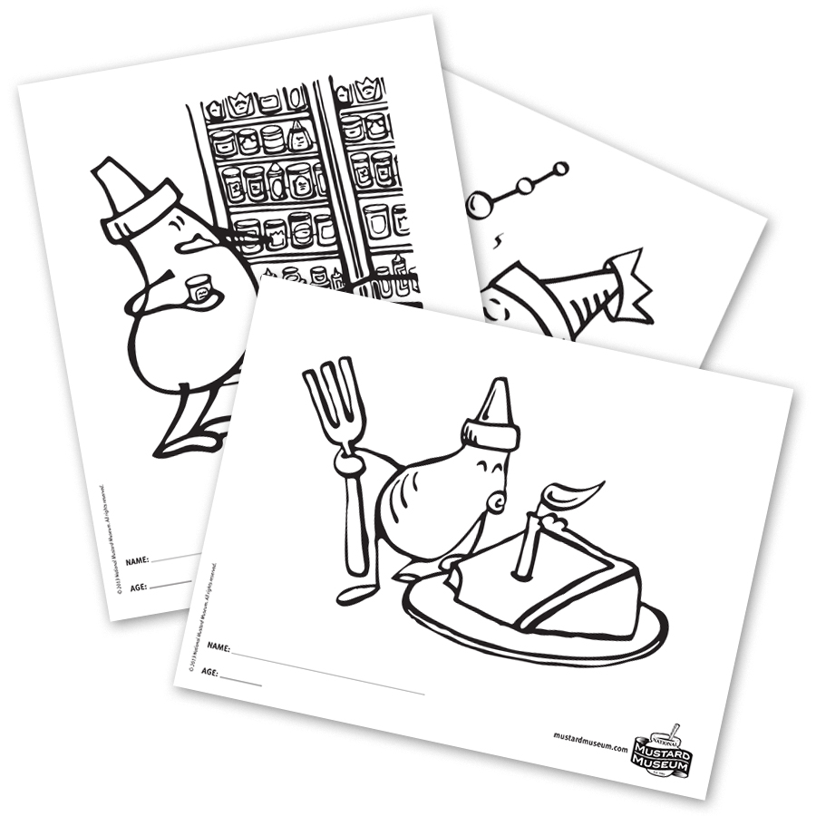 Coloring Contest! | National Mustard Museum
