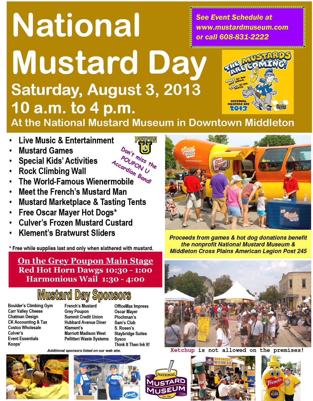 2013 National Mustard Day | National Mustard Museum