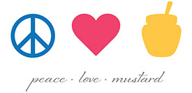 PEACE LOVE MUSTARD